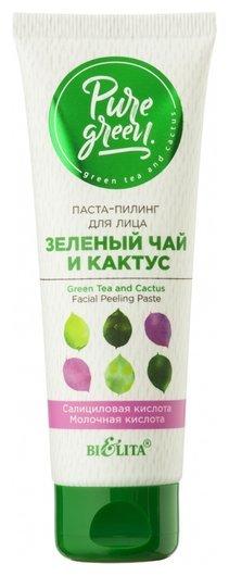 Паста–пилинг для лица Зеленый чай и кактус  Белита - Витекс