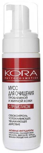 Мусс для очищения проблемной и жирной кожи с пребиотиками  Kora