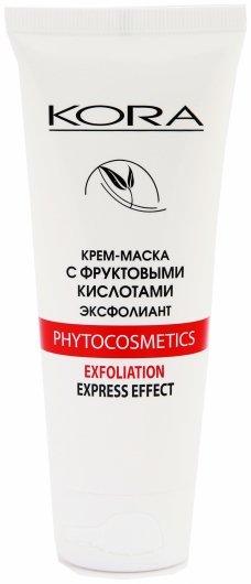 Крем-маска с фруктовыми кислотами эксфолиант  Kora