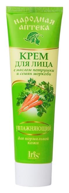 Крем для лица с маслом петрушки и семян моркови Увлажняющий  IRIS cosmetic