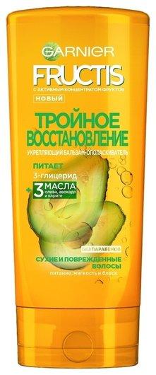 Бальзам-ополаскиватель для волос Тройное Восстановление с маслами Оливы, Авокадо и Карите  Garnier