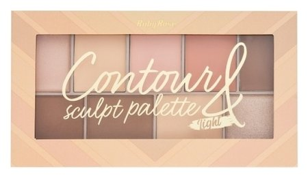 "Палетка для макияжа ""Contour&sculpt palette light""  Ruby Rose"