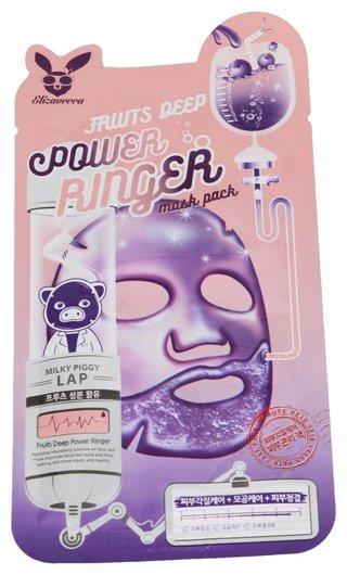 """Успокаивающая тканевая маска для лица с фруктовыми экстрактами """"Fruits Deep Mask Pack""""  Elizavecca"""