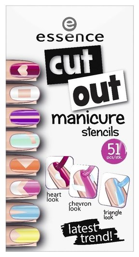 Наклейки для ногтей Cut out manicure stencils  Essence