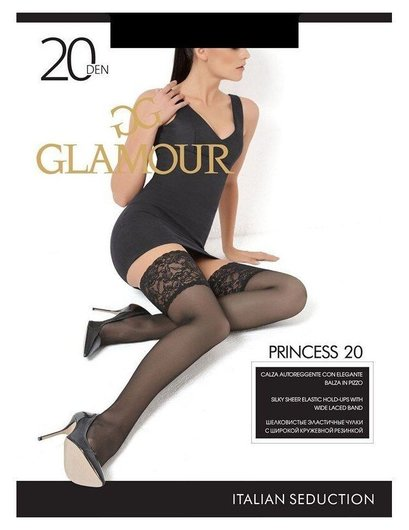 Женские чулки Princess 20 Den  Glamour
