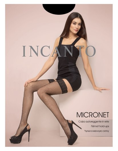 Чулки в сетку женские Micronet Calze Incanto Micronet Calza