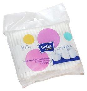 Ватные палочки гигиенические, мягкая упаковка 100  Bella