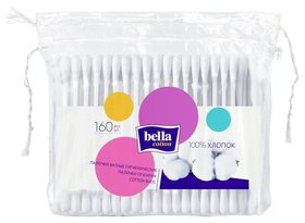 Ватные палочки гигиенические, мягкая упаковка 160  Bella