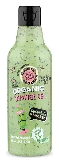 Skin Super Food Seed Гель для душа расслабляющий Cucumber & bazil seeds  Planeta Organica