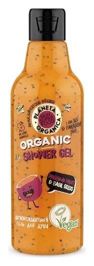 Гель для душа антиоксидантный Passion fruit & basil seeds  Planeta Organica