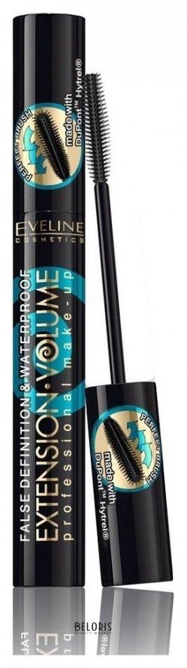 Купить Тушь для ресниц Eveline, Тушь для ресниц водостойкая Extension Volume Professional, Польша