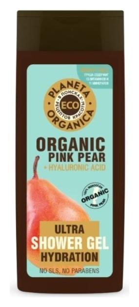 Увлажняющий гель для душа с эксрактом розовой груши Pink pear  Planeta Organica