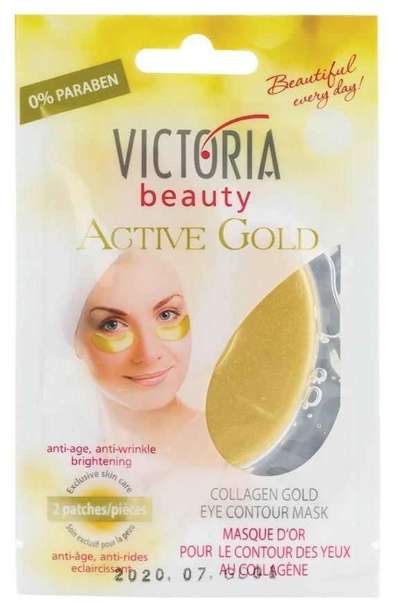 Золотая коллагеновая маска-патчи для области вокруг глаз  Victoria beauty