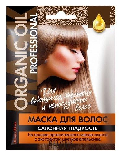 Купить Маска для волос Фитокосметик, Маска для вьющихся жестких и непослушных волос салонная гладкость, Россия