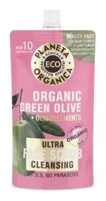 Очищающий скраб для лица Organic Green Olive  Planeta Organica