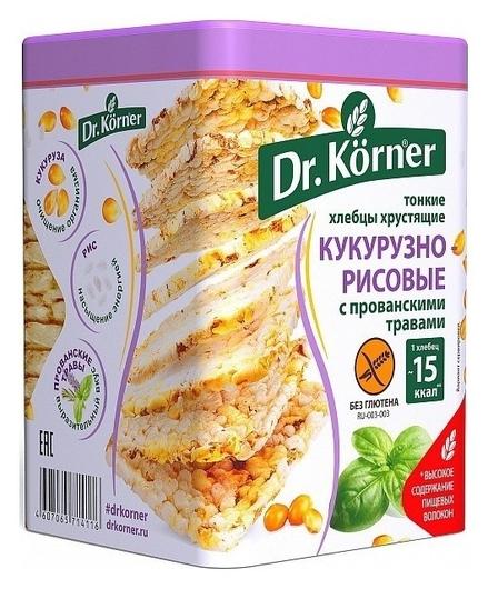 Хлебцы кукурузно-рисовые с прованскими травами  Dr. Korner