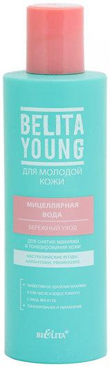 Мицеллярная вода для снятия макияжа и тонизирования кожи бережный уход Белита - Витекс Young