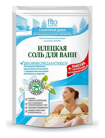 Илецкая соль для ванн для снятия стресса и усталости  Фитокосметик