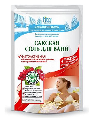 Соль для ванн сакская фитоактивная  Фитокосметик