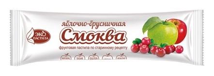 Пастила смоква Яблочно-брусничная Эко Пастила