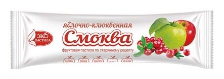 Пастила смоква Яблочно-клюквенная Эко Пастила