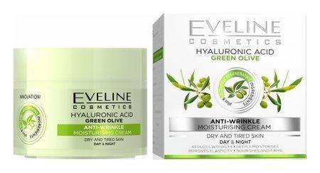 "Еveline крем ""Гиалуроновая кислота + зелёная олива""  Eveline Cosmetics"