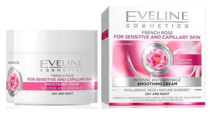 "Еveline крем ""Гиалуроновая кислота + французская роза""  Eveline Cosmetics"