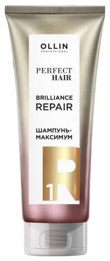 Шампунь-максимум для волос 1 шаг Подготовительный этап Brilliance Repair  OLLIN Professional
