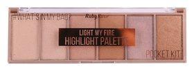Пудровый хайлайтер LIGHT MY FIRE  RUBY ROSE