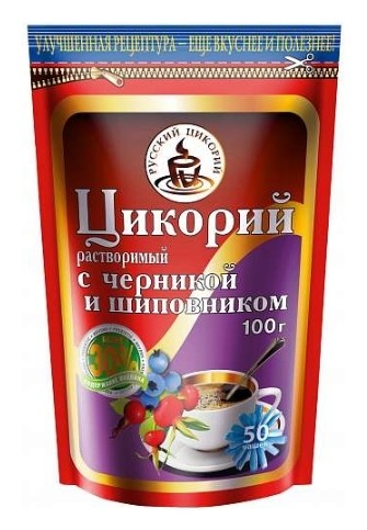 Цикорий с черникой и шиповником дой-пак  Русский цикорий