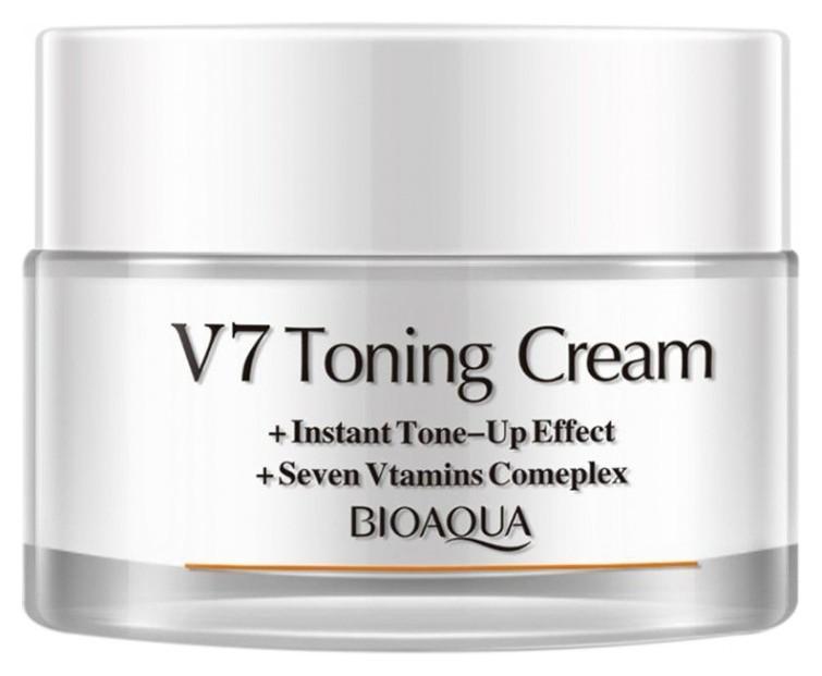 Крем для лица с комплексом витаминов v7, выравнивающий текстуру кожи (белый )  Bioaqua