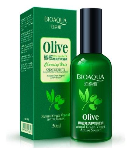 Несмываемое масло-флюид для волос с экстрактом оливы  Bioaqua