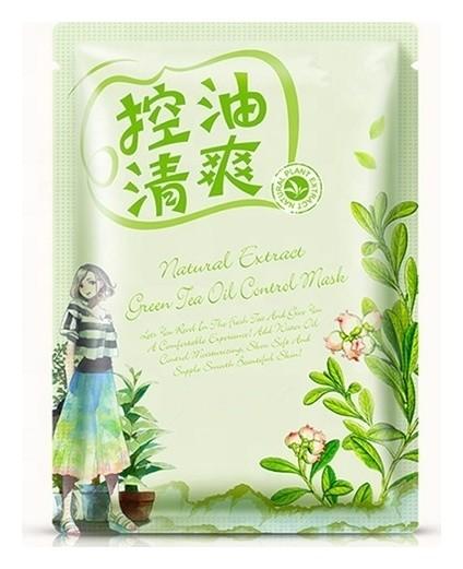 Освежающая тканевая маска для лица с маслом чайного дерева Natural Extract  Bioaqua