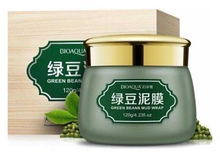 Грязевая маска для лица с экстрактом зеленых бобов  Bioaqua