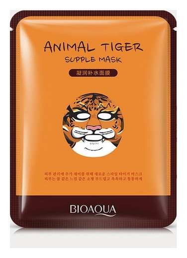 """Питательная тканевая маска для лица """"Тигр""""  Bioaqua"""