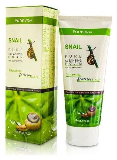 Очищающая пенка с муцином улитки Snail Pure Cleansing Foam  FarmStay