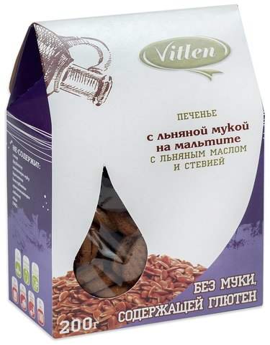 Печенье с льняной мукой на мальтите  Vitlen