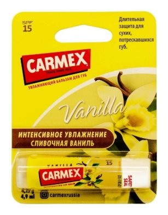 Бальзам для губ с ароматом ванили spf15  Carmex