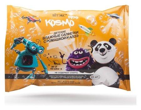 Детские влажные салфетки с ромашкой и алоэ KOSMO KIDS (15 шт)  Белита - Витекс