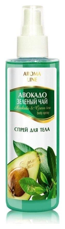 """Спрей для тела Aroma Line """"Авокадо и зеленый чай""""  IRIS cosmetic"""
