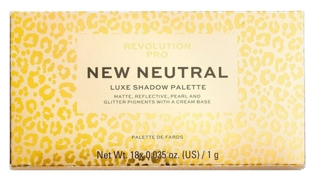 Палетка теней для век New Neutral Luxe Shadow Palette  Revolution PRO