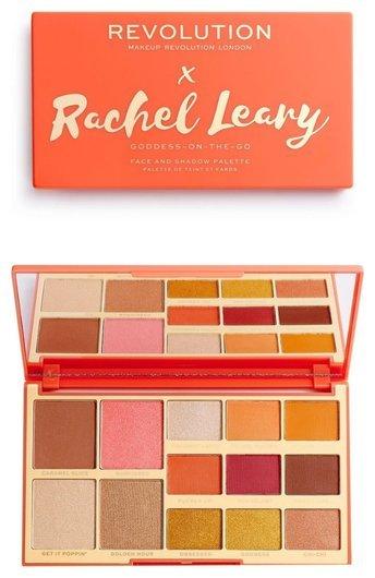 Палетка для макияжа Rachel Leary Goddess-On-The-Go Face And Shadow Palette Makeup Revolution