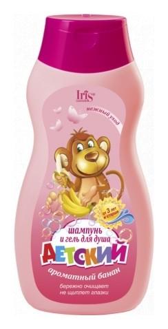 Детский шампунь и гель для душа Ароматный банан  IRIS cosmetic