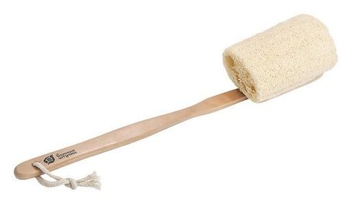 Мочалка из люфы на деревянной ручке  Банные Штучки