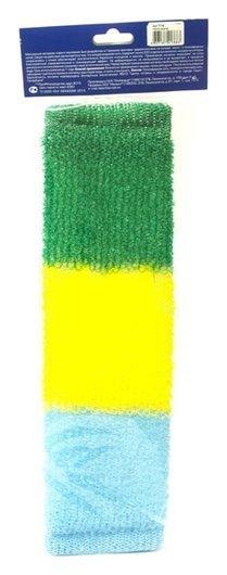 Мочалка массажная, длинная, трехцветная  VIVAL