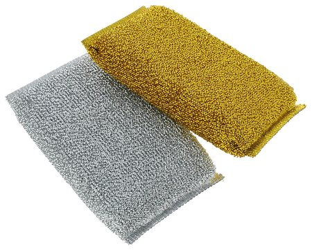 Мочалка хозяйственная золото+серебро, 2 шт  VIVAL