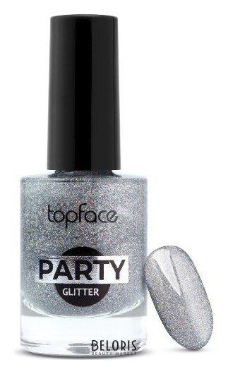Лак для ногтей Party Glitter Nail TopFace