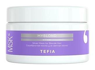 Серебристая маска для светлых волос  Tefia