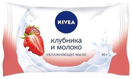 Мыло-уход Клубника и молоко  Nivea