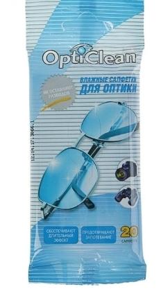Салфетки влажные для оптики  Opti Clean
